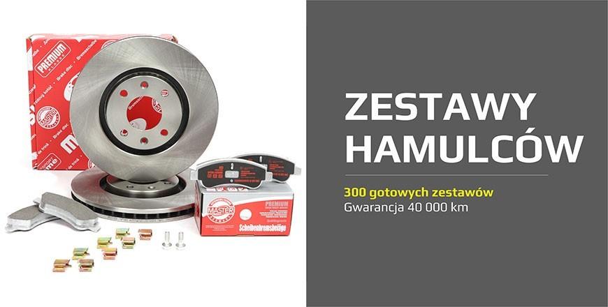 ZESTAWY HAMULCÓW - 300 gotowych zestawów | Gwarancja 40 000 km